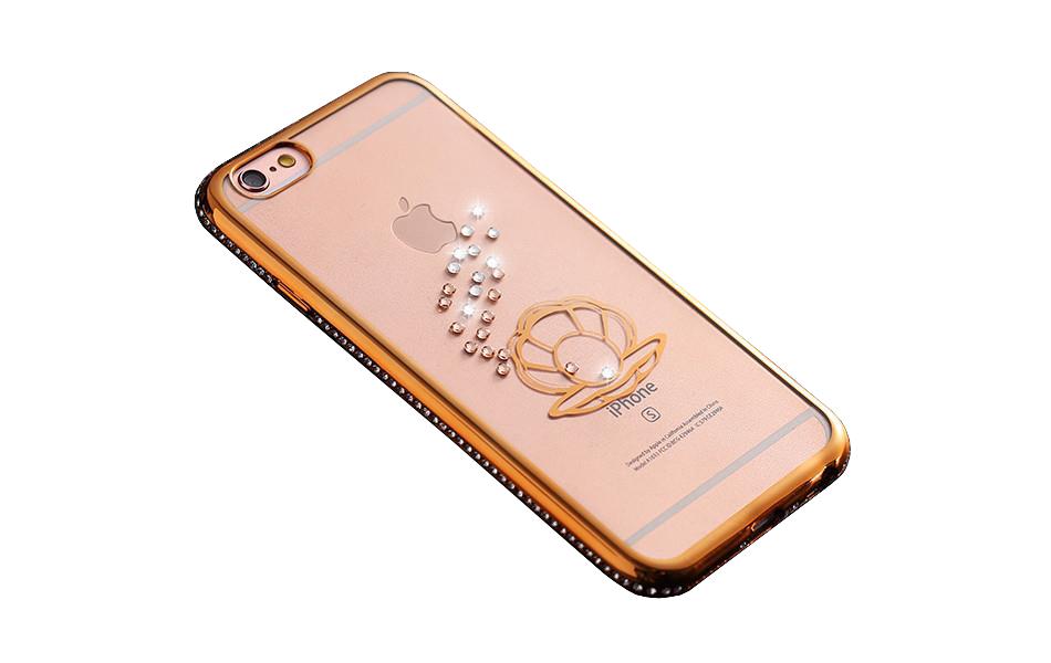 Kryt Crystal Ocean pro iPhone 6/6S - Gold