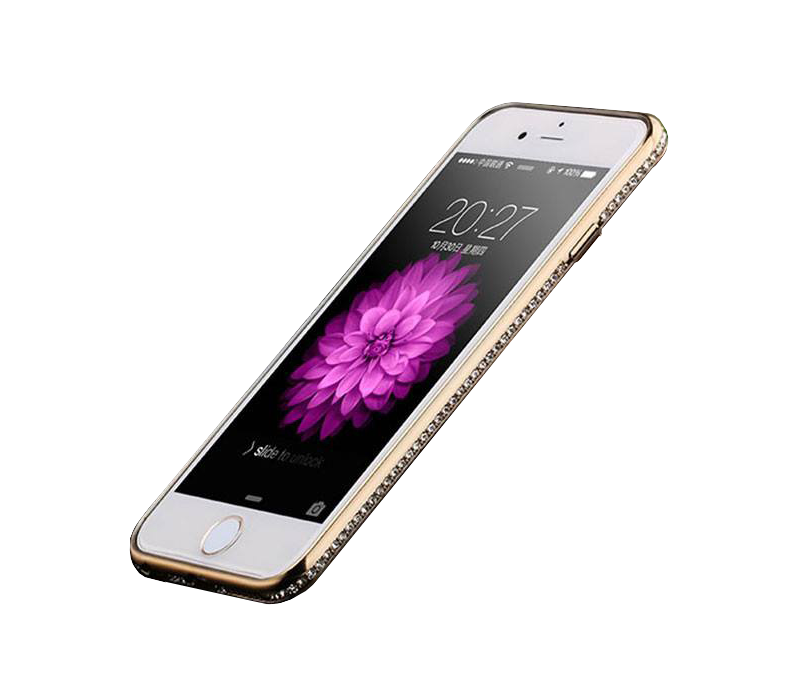 Kryt Crystal pro iPhone 6/6S - Gold