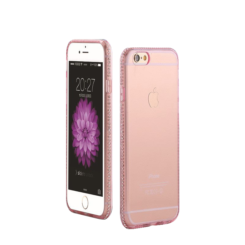 Kryt Crystal Jelly Clear pro iPhone 6/6S - Pink