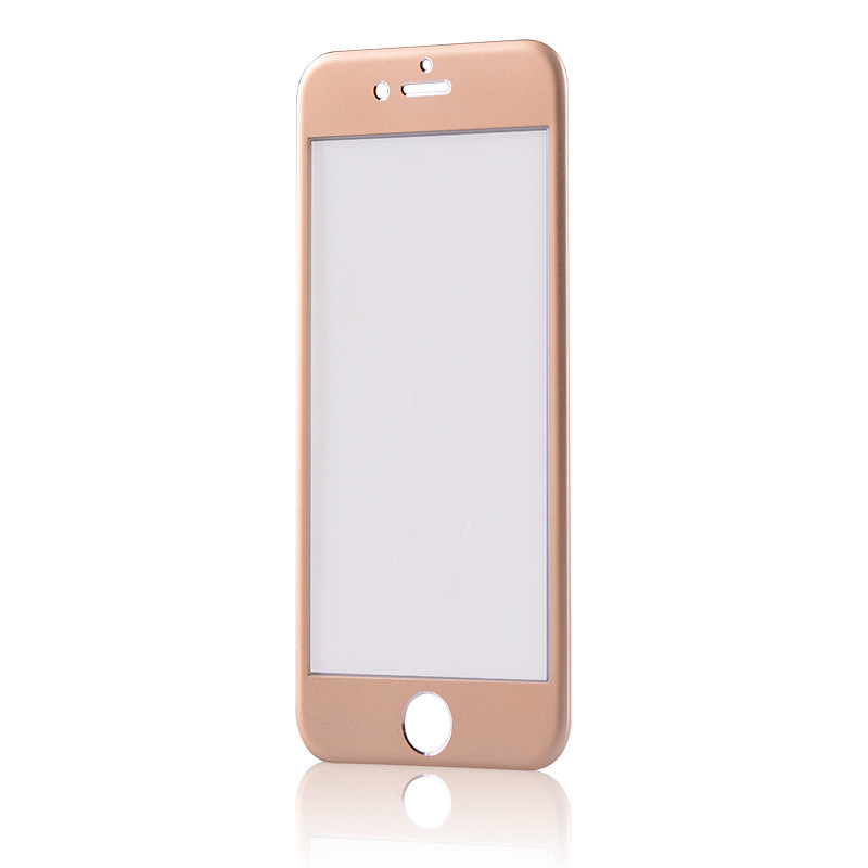 Tvrzené 3D sklo Clearo zaoblené barevné na celý displej pro iPhone 7 Barva: Zlatý