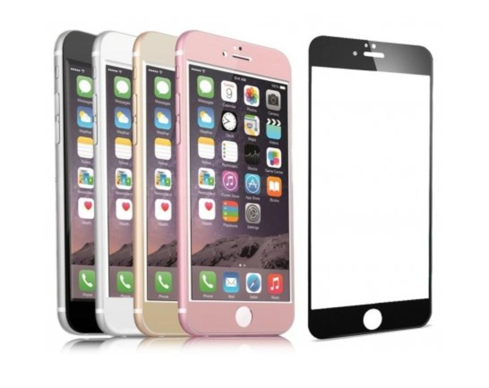 Tvrzené 3D sklo Clearo zaoblené barevné na celý displej pro iPhone 7 Plus Barva: Černý