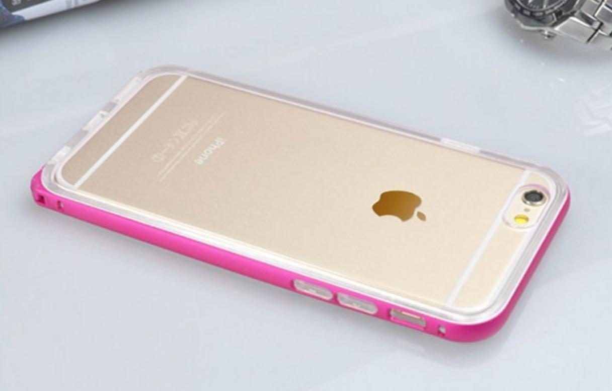 Kryt Clearo Full Luxury Bumper pro iPhone 6/6s (4 varianty) Barva: Růžový