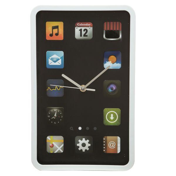 Nástěnné hodiny iPhone (černé / bílé) Barva: Bílý