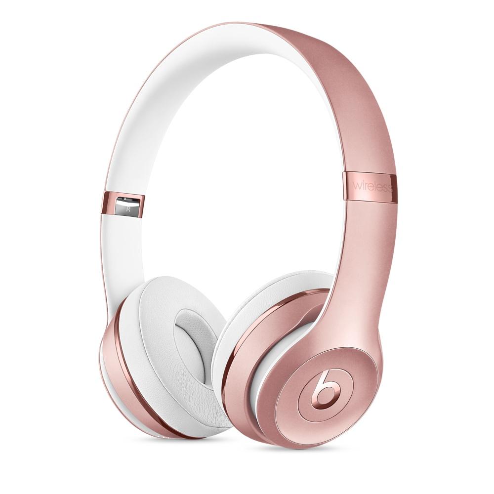 Beats Solo3 Wireless bezdrátová sluchátka na uši růžově zlatá