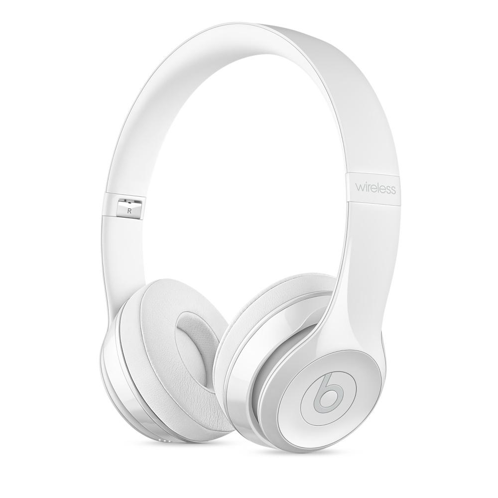 Beats Solo3 Wireless bezdrátová sluchátka na uši leskle bílá