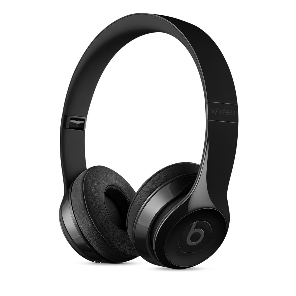 Beats Solo3 Wireless bezdrátová sluchátka na uši leskle černá