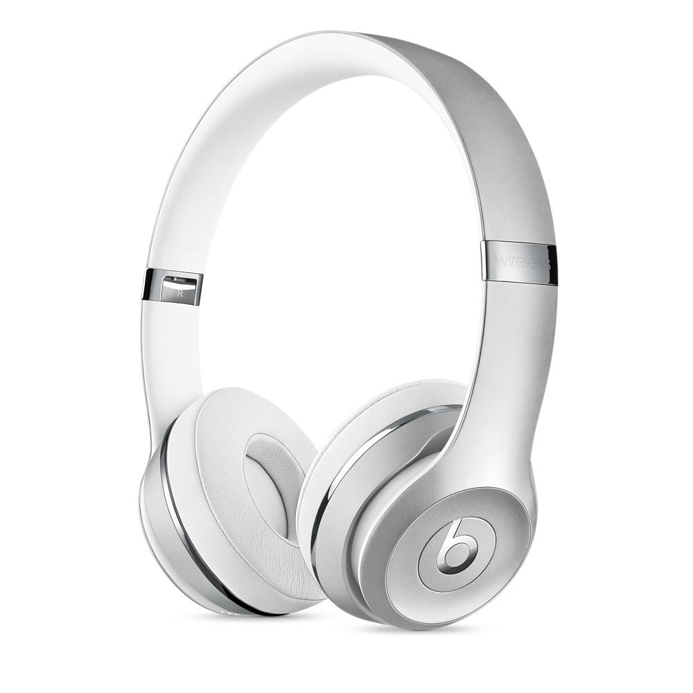 Beats Solo3 Wireless bezdrátová sluchátka na uši stříbrná