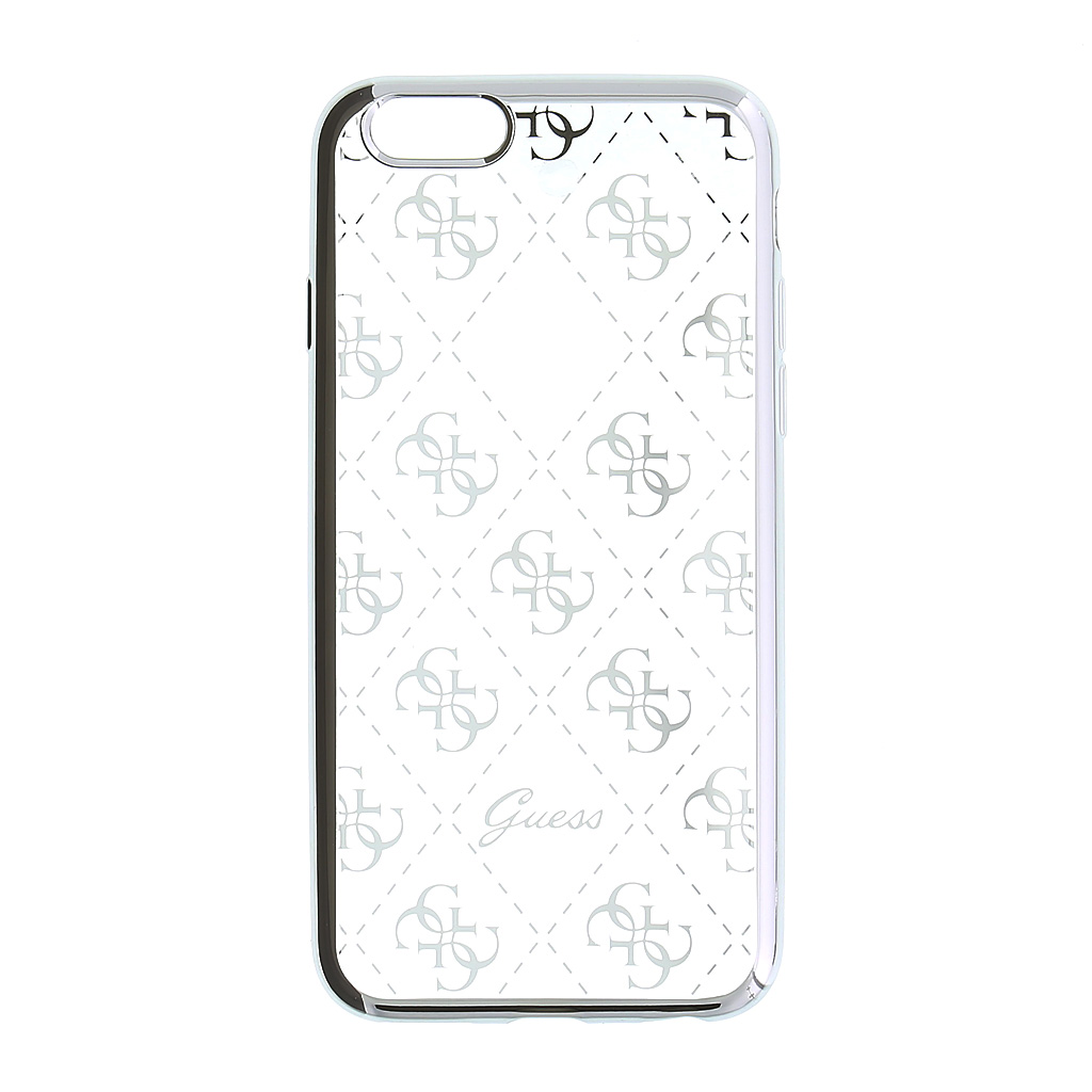 Kryt Guess 4G TPU Silver pro iPhone 5/5S/SE