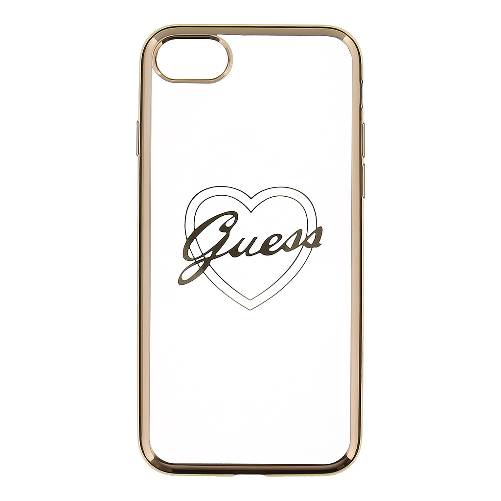 Kryt Guess Heart TPU Gold pro iPhone 7
