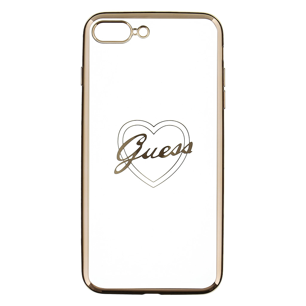 Kryt Guess Heart TPU Gold pro iPhone 7 Plus