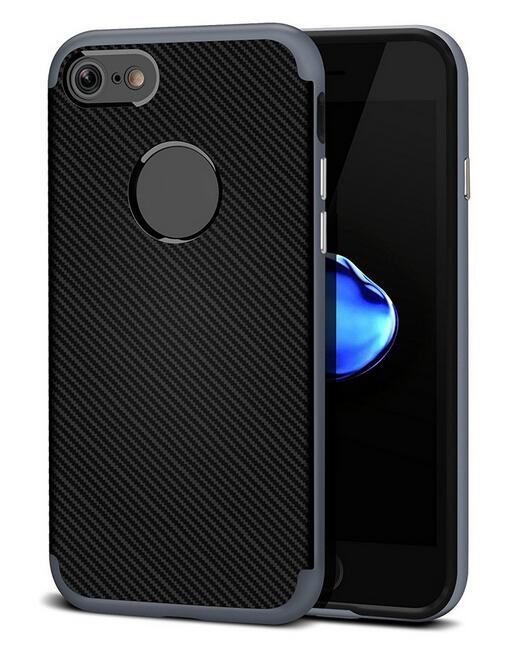 Kryt Clearo Carbon Hybrid Armor, Grey - pro iPhone 6/6S