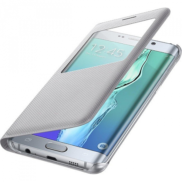 Pouzdro Samsung S-View Silver pro G928 Galaxy S6 Edge Plus (EU Blister)