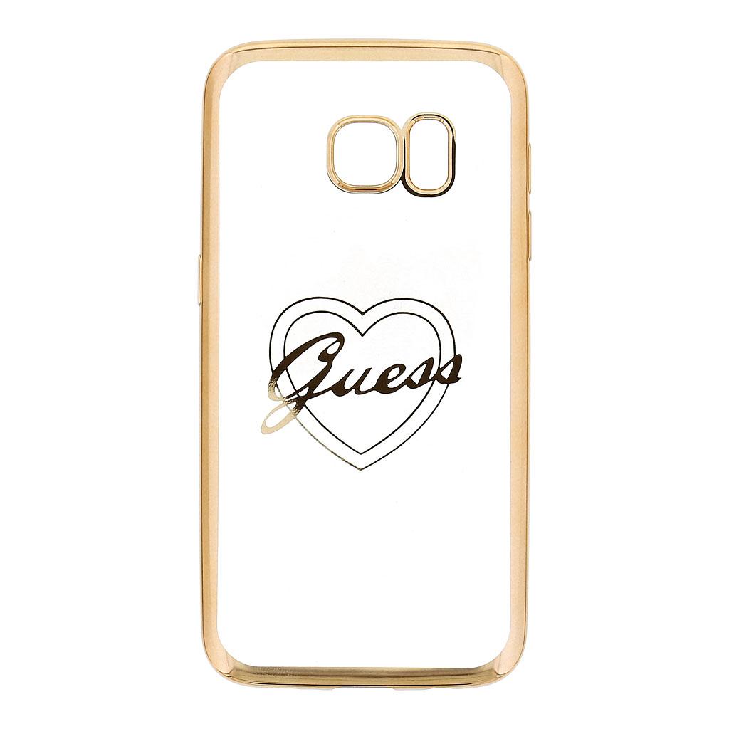 Kryt Guess Heart TPU Gold pro Samsung G930 Galaxy S7