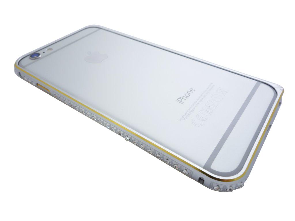 Luxusní kryt pro iPhone 5/5S - Crystal Steel Shield Barva: Stříbrno/zlatý
