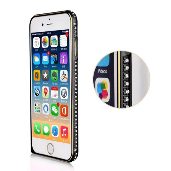 Luxusní kryt pro iPhone 5/5S/SE - Crystal Steel Shield Barva: Černo/zlatý