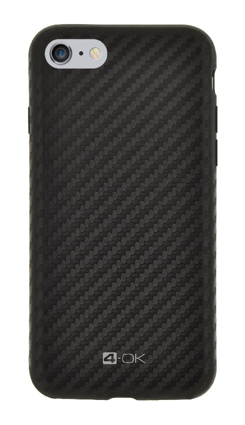 Kryt 4-OK Pure Material Carbon - pro iPhone 6/6S