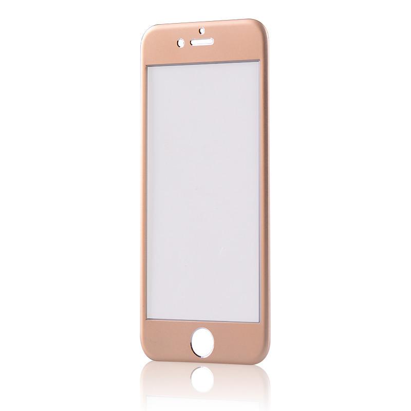 Tvrzené 3D sklo Clearo zaoblené barevné na celý displej pro iPhone 6/6S Barva: Zlatý