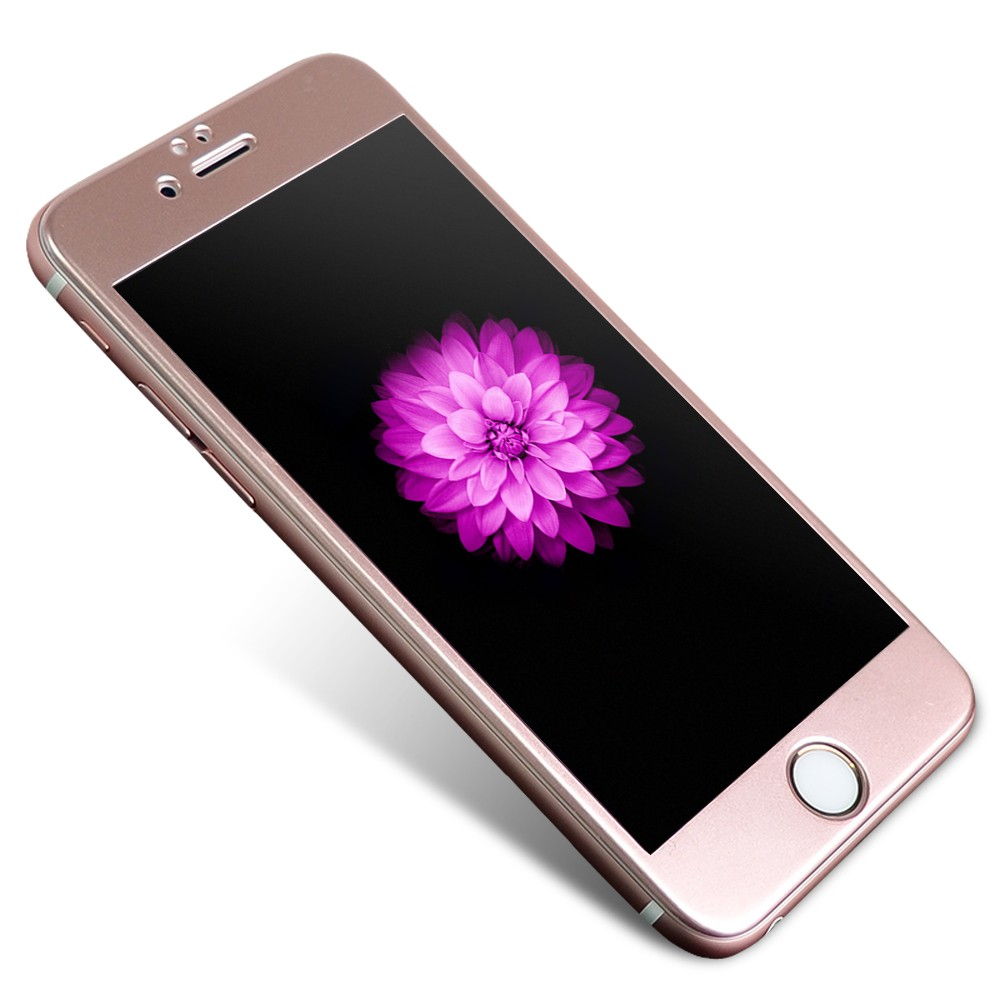 Tvrzené 3D sklo Clearo zaoblené barevné na celý displej pro iPhone 6/6S Barva: Rose