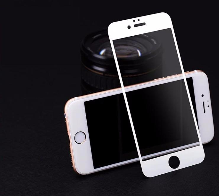 Tvrzené zaoblené barevné sklo Clearo na celý displej pro iPhone 6/6S Barva: Bílý