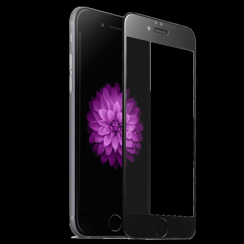 Tvrzené 3D sklo Clearo zaoblené barevné na celý displej pro iPhone 6/6S Barva: Černý