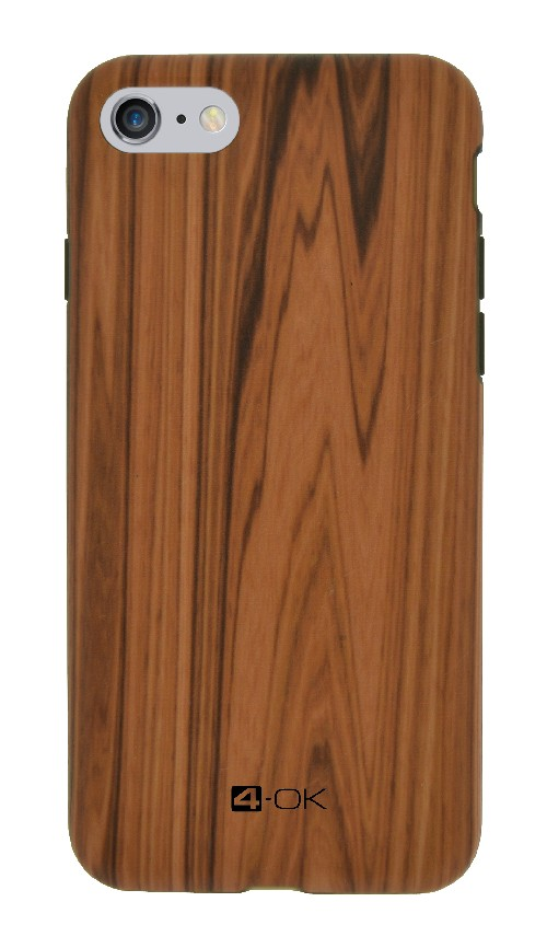 Kryt 4-OK Pure Material Wood - pro iPhone 6/6S