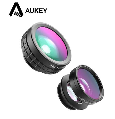 AUKEY externí objektiv 3v1 clip-on - univerzální (Fish Eye, Wide-angle, Macro)