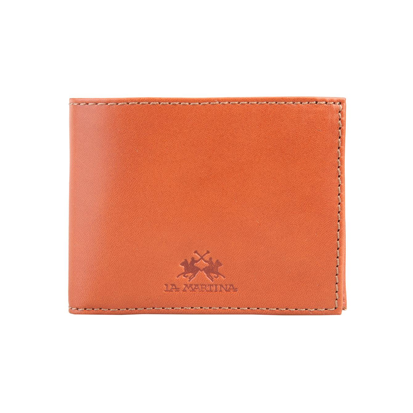 La Martina Pánská kožená peněženka - světle hnědá
