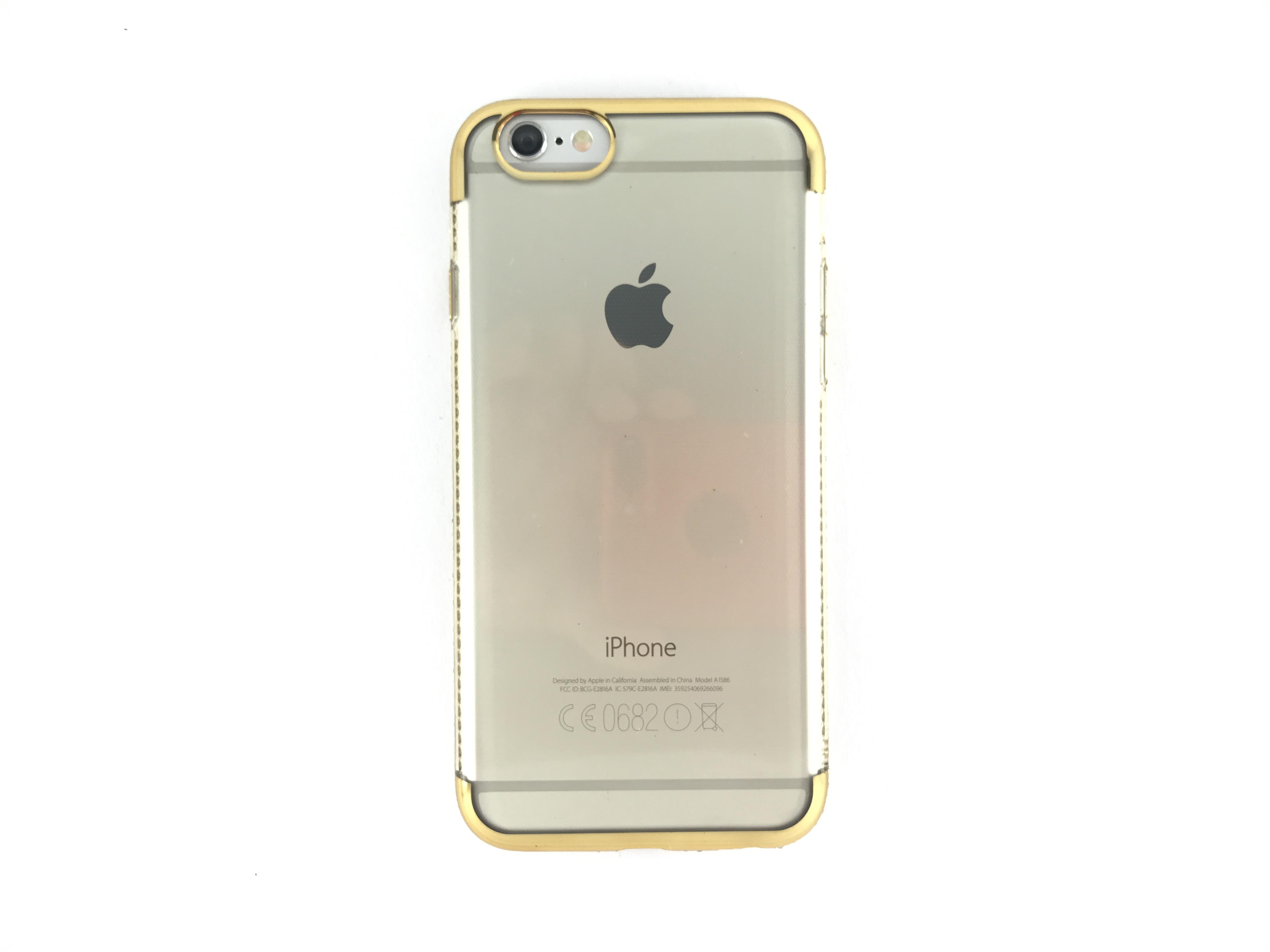 Kryt Clearo Crystal Ring pro iPhone 6/6S - Gold