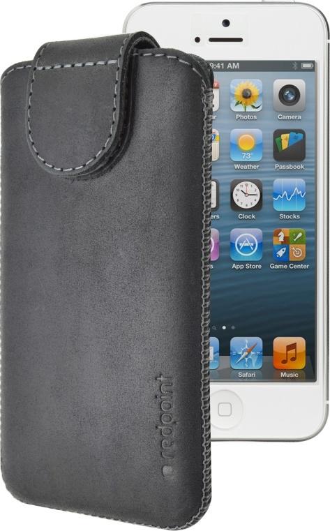 Kožené pouzdro FIXED Redpoint Posh pro Apple iPhone 5/5S/SE, černé