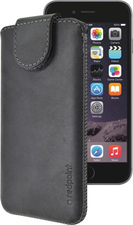 Kožené pouzdro FIXED Redpoint Posh pro Apple iPhone 6/6S/7, černé