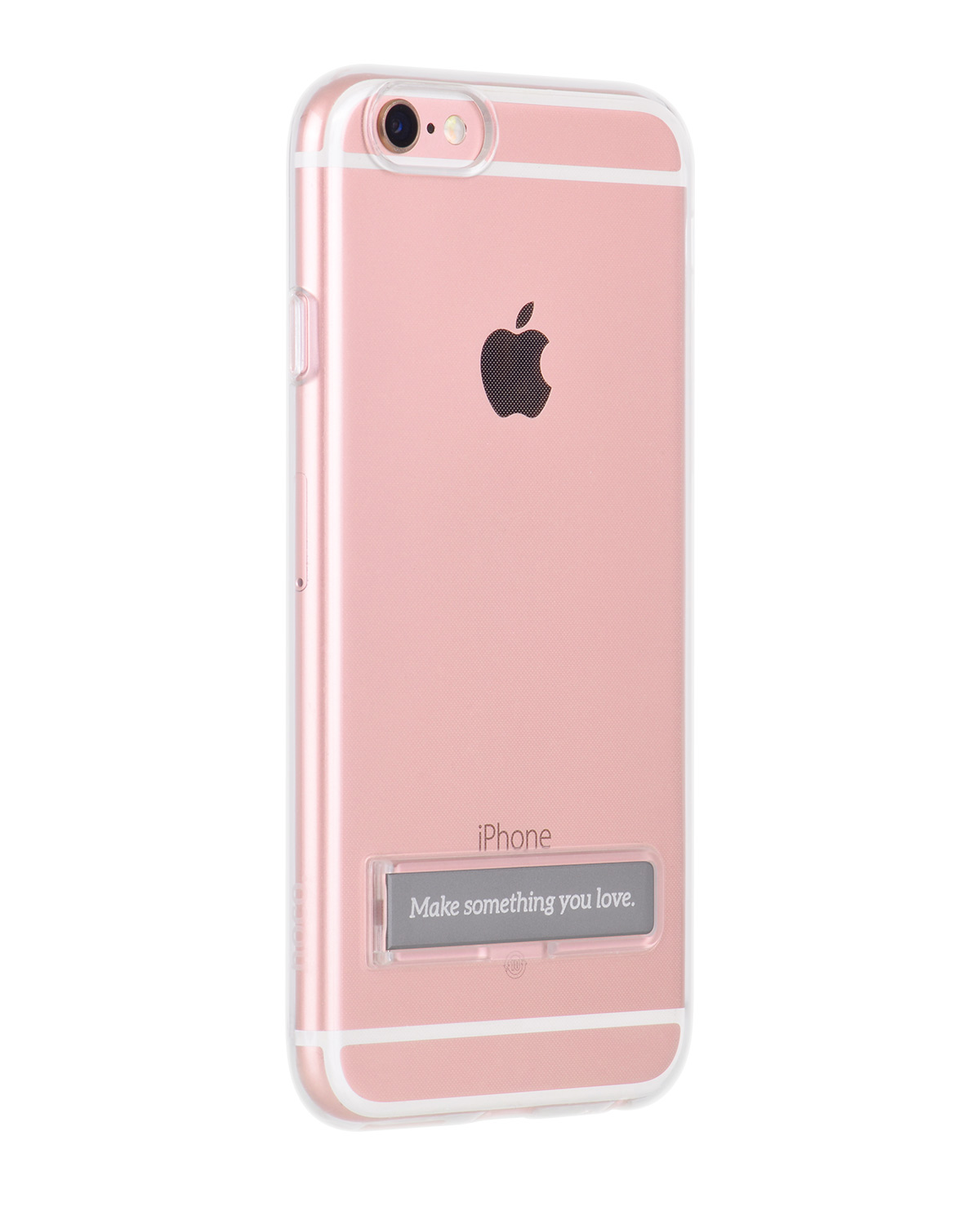 Kryt HOCO Magnetic Clear Shock Proof case pro Apple iPhone 6/6S – barva stojánku Space Gray