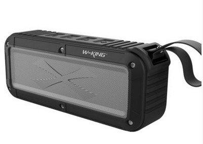 Bezdrátový voděodolný Bluetooth reproduktor s NFC W-King™ Max Barva: Černý