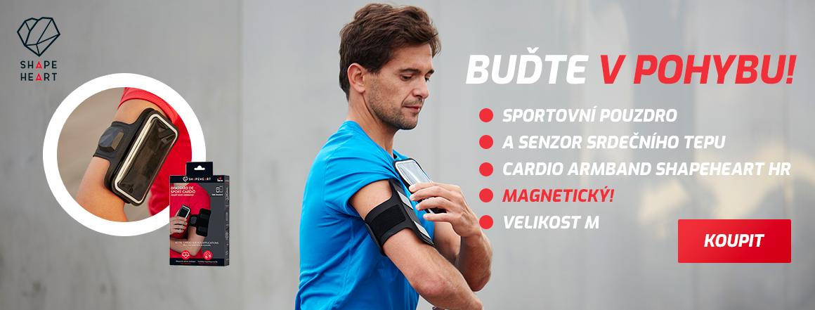 Sportovní pouzdro,a senzor serdečniho tepu - Cardio Armband Shapeheart HR, velikost M
