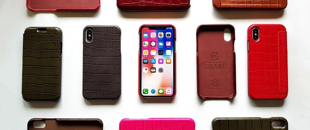 pouzdra typu kniha a zadní kryt na Iphone a Samsung z právé kůži