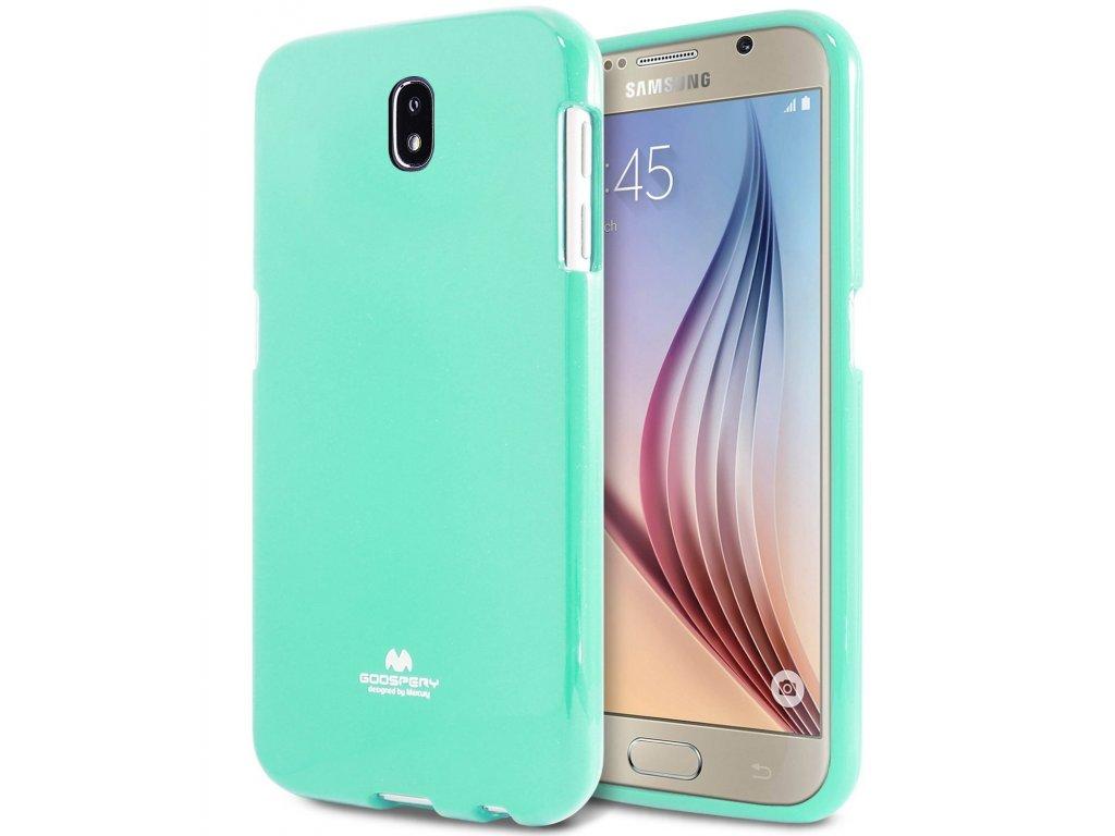 Tyrkysový obal Mercury Jelly pro Samsung Galaxy J7 (2017)