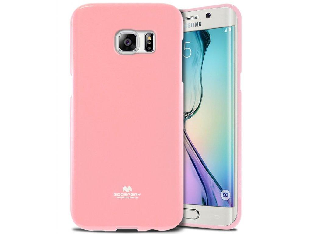 Růžový obal Mercury Jelly pro Samsung Galaxy S6 EDGE