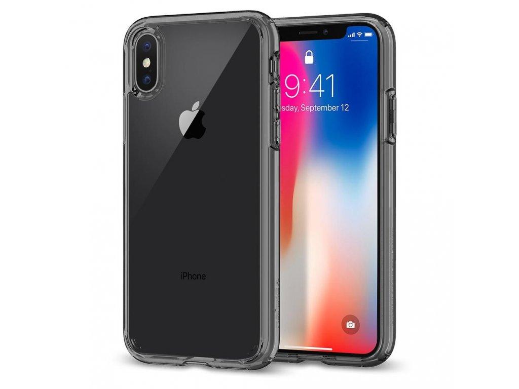 2580 3 pruhledny obal spigen ultra hybrid clear pro iphone x xs