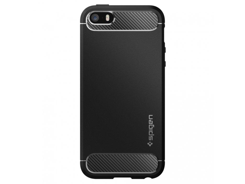 Černý obal Spigen Rugged Armor pro iPhone 5 / 5S / SE