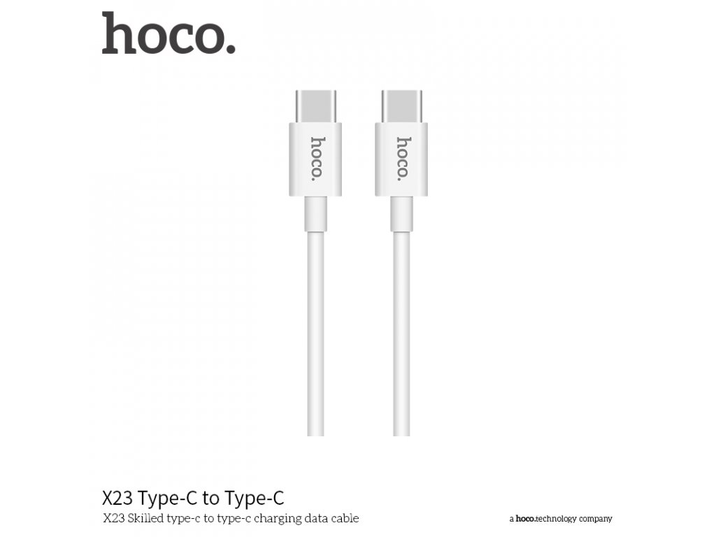 Kabel USB-C a USB-C - Hoco, X23 Skilled