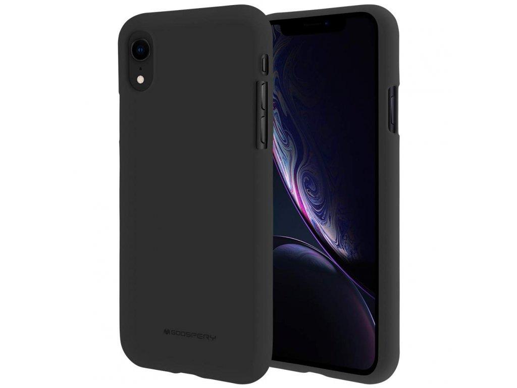 Černý obal Mercury Soft Feeling pro iPhone XR