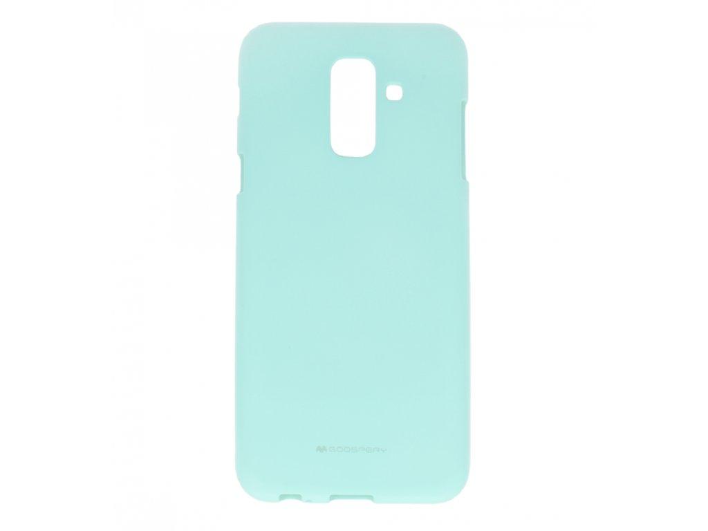 Tyrkysový obal Mercury Soft Feeling pro Samsung Galaxy A6 Plus(2018)