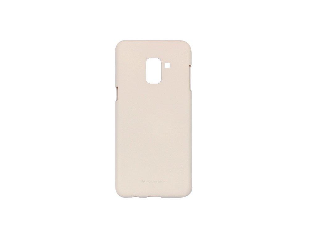 Béžový obal Mercury Soft Feeling pro Samsung Galaxy A8 (2018)