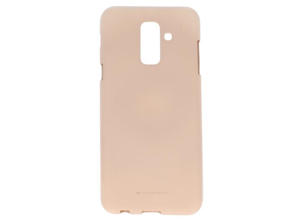 Béžový obal Mercury Soft Feeling pro Samsung Galaxy A8 PLUS (2018)
