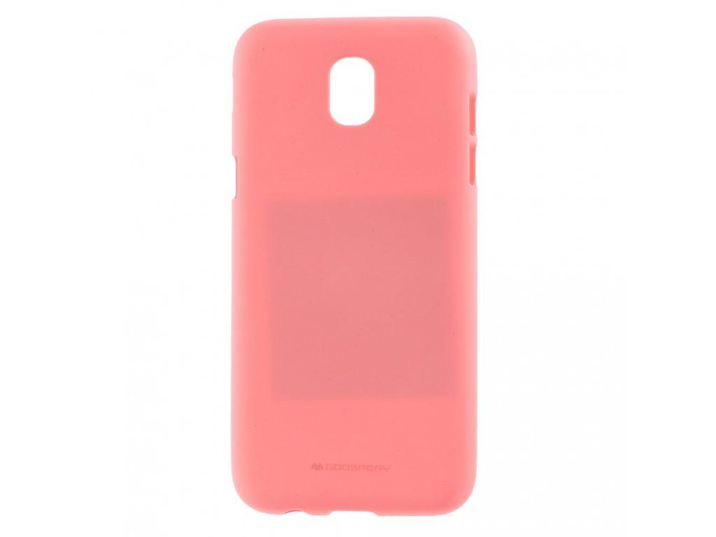 Růžový obal Mercury Soft Feeling pro Samsung Galaxy J5 (2017)