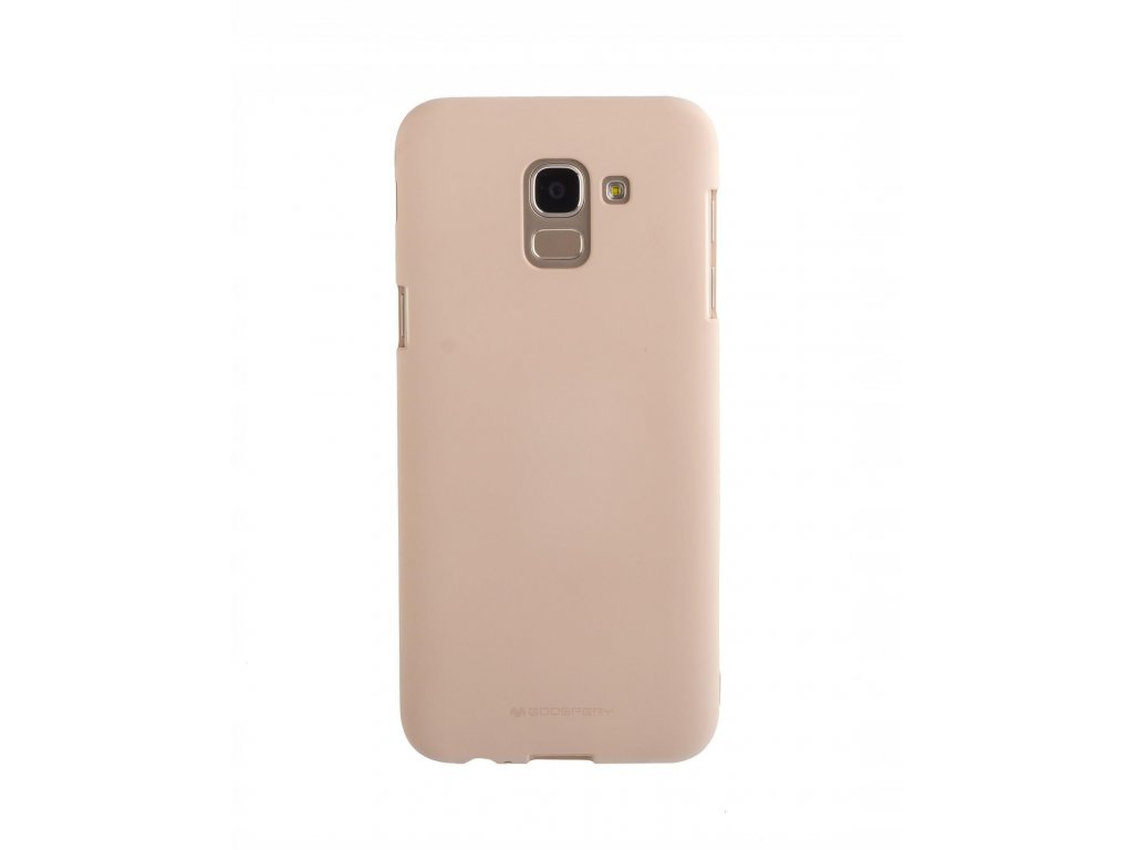 Béžový obal Mercury Soft Feeling pro Samsung Galaxy J6 (2018)