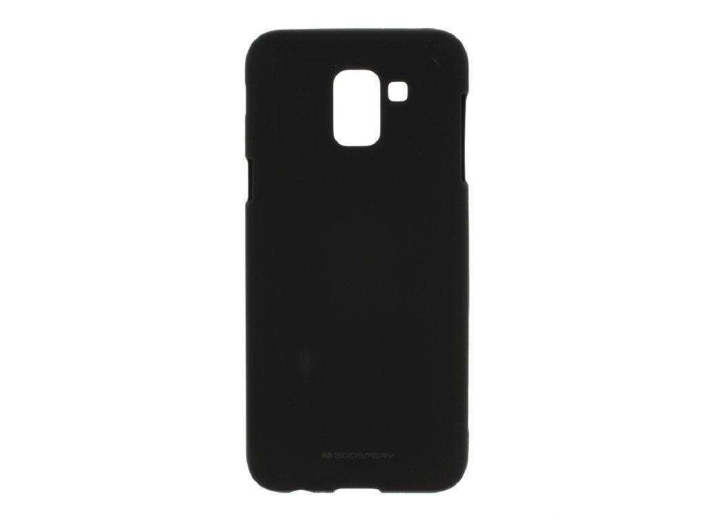 Černý obal Mercury Soft Feeling pro Samsung Galaxy J6 PLUS (2018)