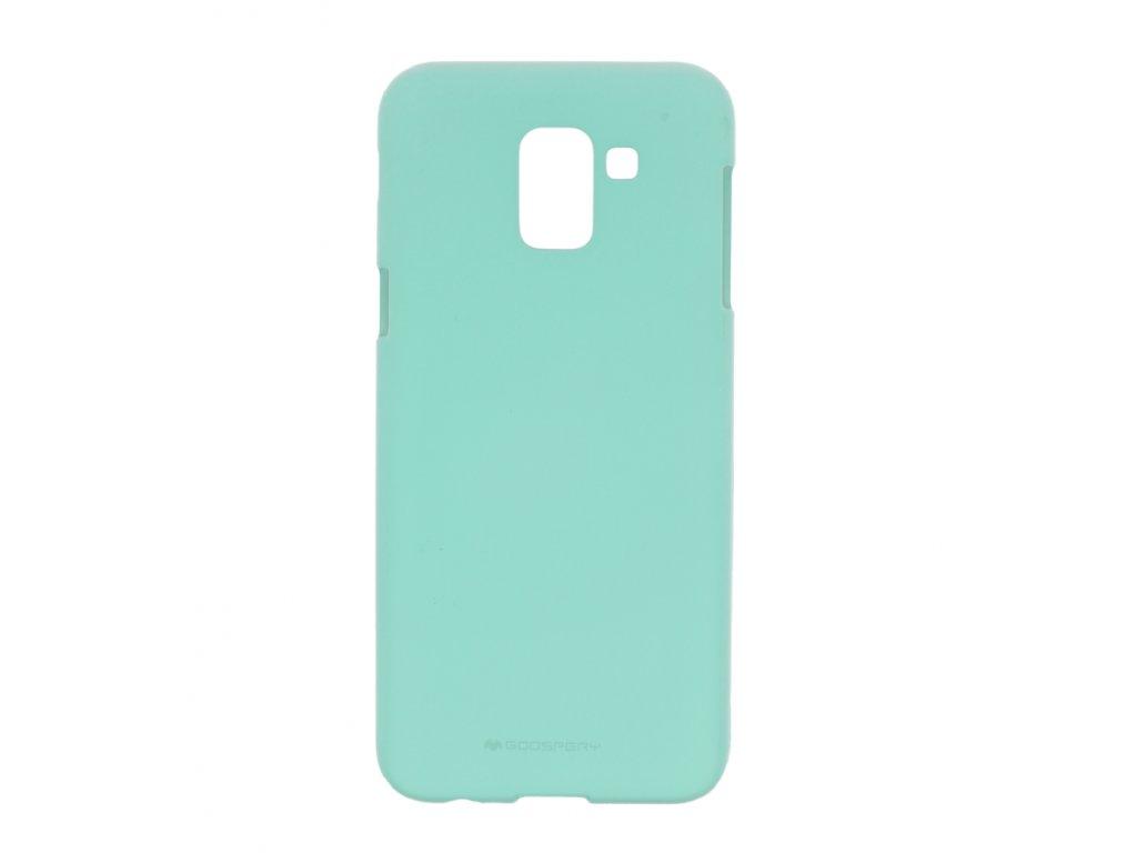Tyrkysový obal Mercury Soft Feeling pro Samsung Galaxy J6 PLUS (2018)