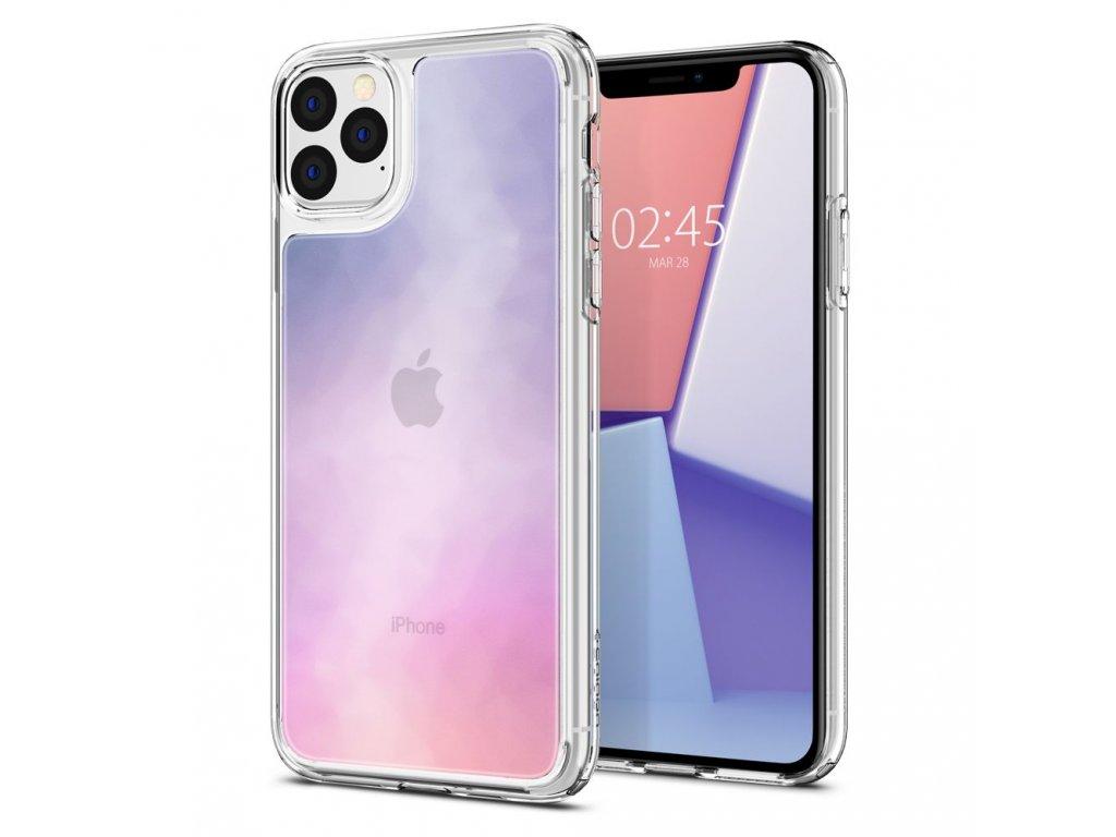 Fialový obal Spigen Crystal Hybrid pro iPhone 11 PRO