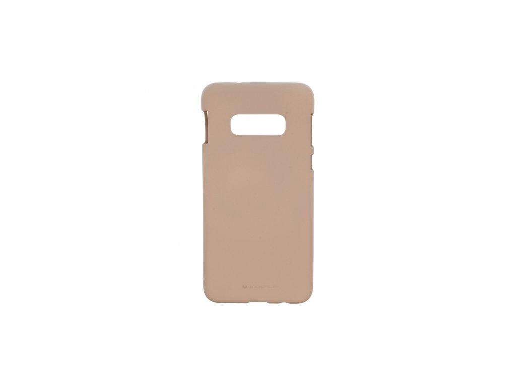 Béžový obal Mercury Soft Feeling pro Samsung Galaxy S10