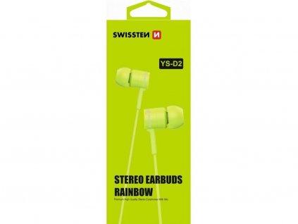 sluchatka swissten earbuds rainbow zelene 3 5 jack krytnamobil cz (1)